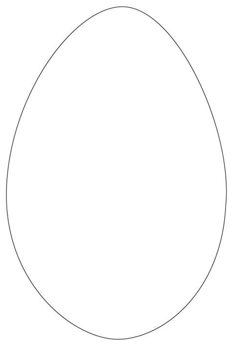egg shape template easter egg cutouts az coloring pages