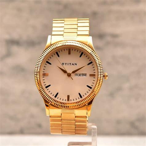 Titan Round Dial Golden Men Watch: Gift/Send Fashion and