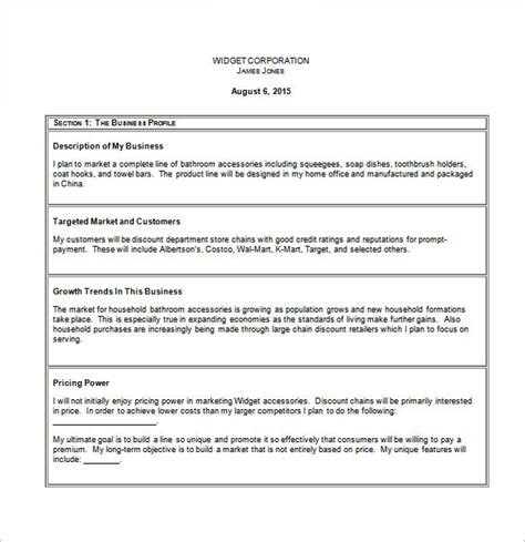 small business plan template business plan template 90 free word excel pdf psd