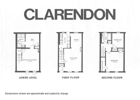 Fairlington Floor Plans | clarendon1 model floor plan fairlington historic district