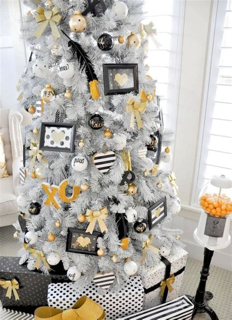 black and yellow christmas tree 33 chic white tree decor ideas digsdigs