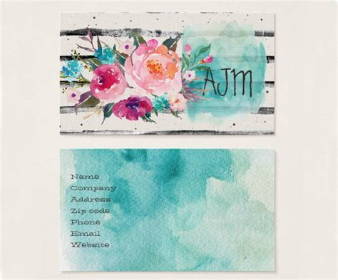 10 watercolor business card templates free premium