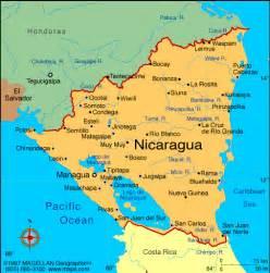 south america map nicaragua atlas nicaragua