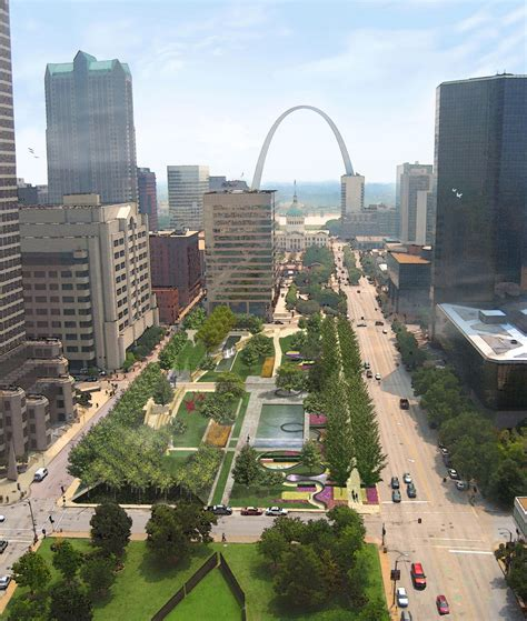 citygarden in downtown st louis centers edges by matt