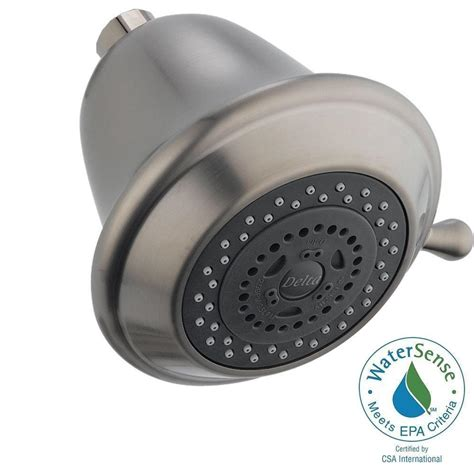 Shower Heads Home Depot by Delta 3 Setting 3 Spray Touch Clean Shower In