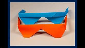 Origami Sunglasses - how to make origami sunglasses easy origami tutorial my