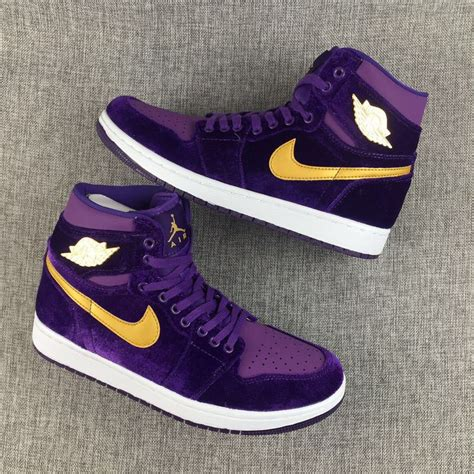 purple jordans shoes nike air 1 retro velvet purple gold unisex shoes