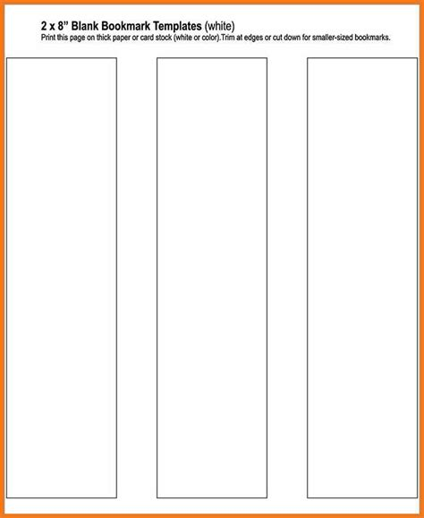 free blank bookmark templates bookmark template publisher resume skills