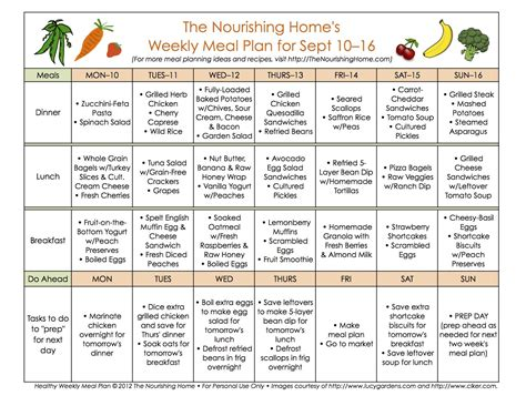 printable eating plan to lose weight meal plan monday september 3 16 meals weight loss and
