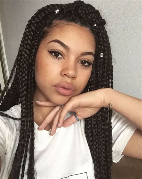 black braids with box braids protective hairstyles box braids