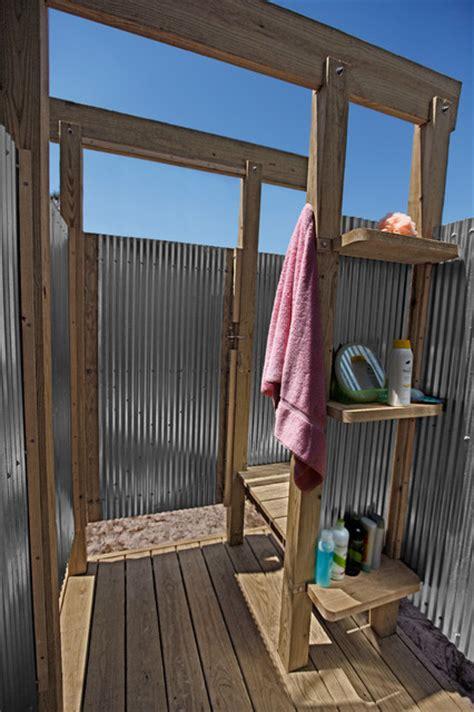 oak beach outdoor shower eclectic pool  york