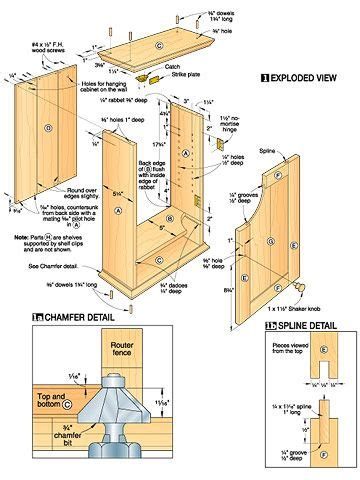 spice cabinet plans woodworking