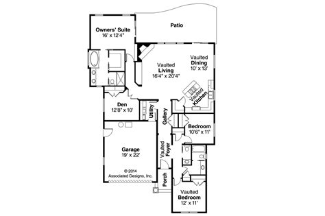 European Floor Plans by European House Plans Sedona 30 568 Associated Designs