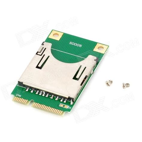 Memory Card Laptop sd card to mini pci e adapter for laptop green golden max 16gb free shipping dealextreme