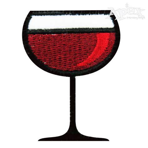 embroidery design wine glass wine glass embroidery design