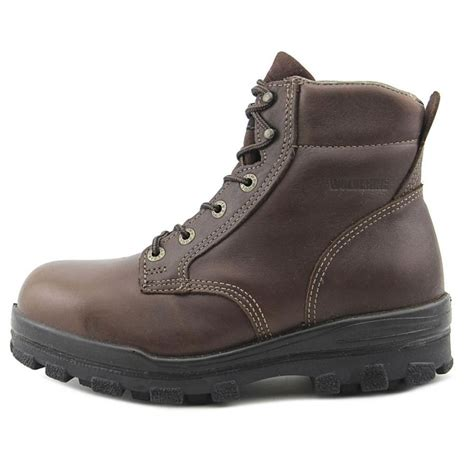 wolverine waterproof work leather brown work boot boots