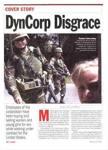 Dynacorp Security Outsourcing Abuse Ii Dyncorp Revealed Infrakshun