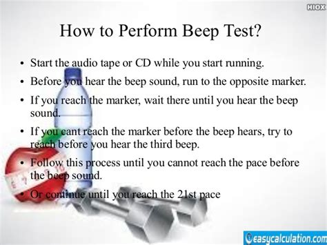 beep test beep test for vo2 max calculation