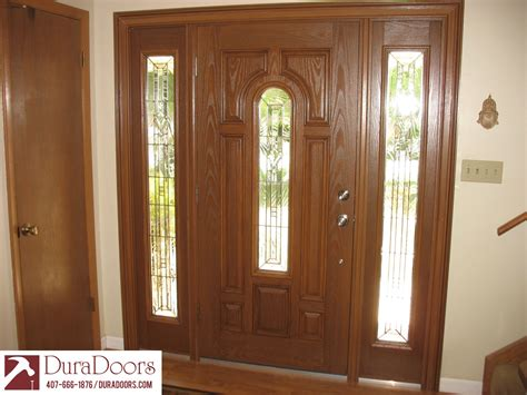 decorative glass door sidelights woodgrain door with radiant hues decorative glass and