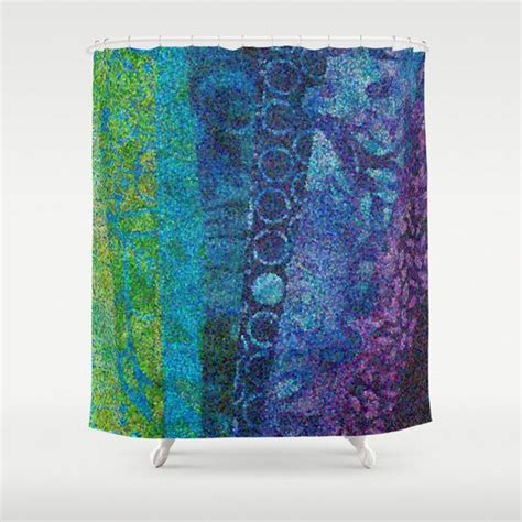 teal and purple shower curtain artistic shower curtain quot day and night quot teal blue purple