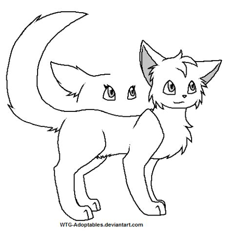 cat adoptables line art cat lineart by wtg adoptables on deviantart