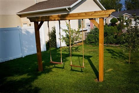 basic swing set plans free simple wood swing set plans woodworking projects