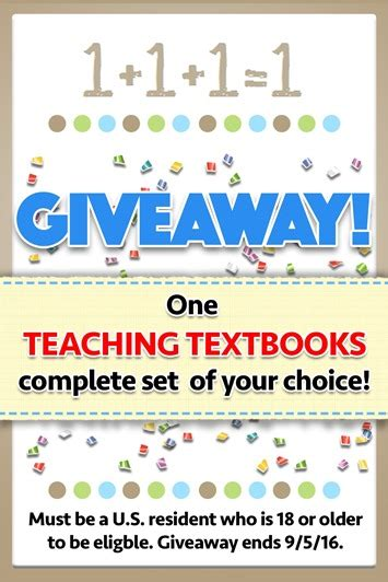 Giveaway Disclaimer - teaching textbooks giveaway 1 1 1 1