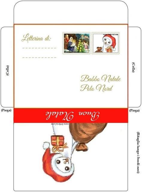 lettere a babbo natale da stare busta e lettera originale da babbo natale ai bambini da