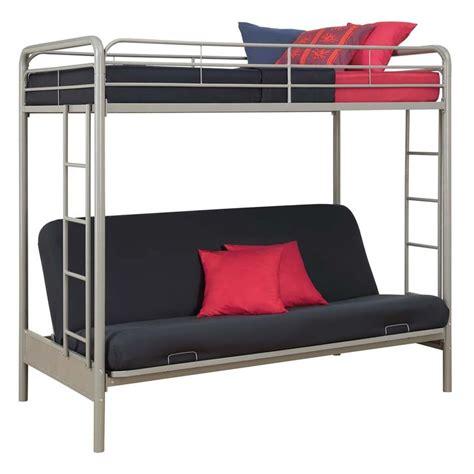 Silver Bunk Beds Futon Metal Bunk Bed In Silver 4023417