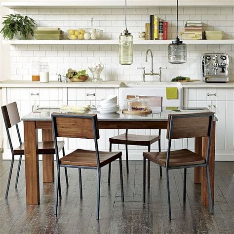 industrial kitchen table furniture the beauty of rustic industrial kitchens