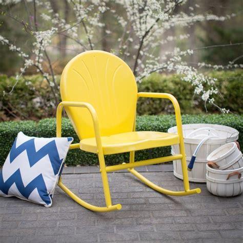 coral coast outdoor furniture coral coast vintage retro steel single rocker rockerred