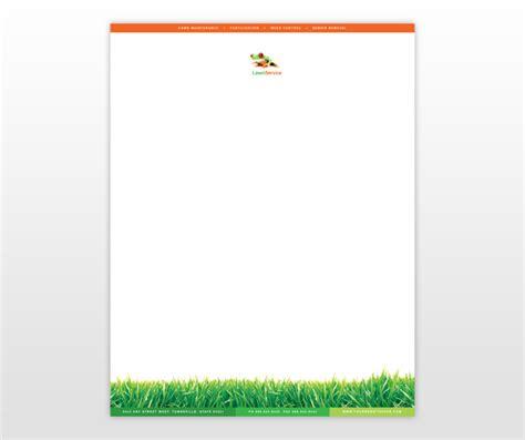 lawn maintenance business services letterhead templates