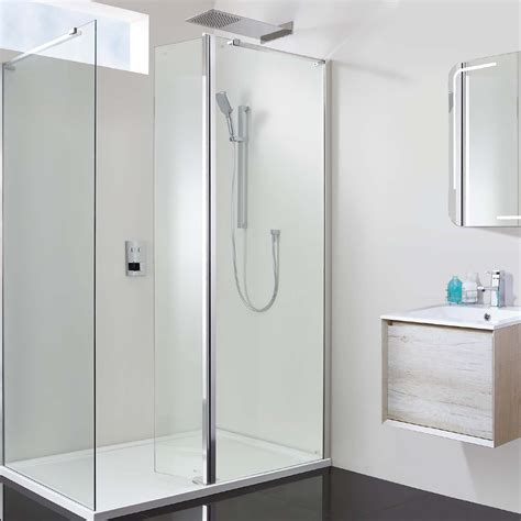 A 700 Shower by Vision 1600 X 700 10mm Hinged Walk In Shower Enclosure Inc