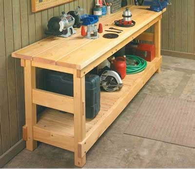 plans for workbench furniture wood talk