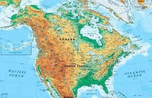 map of the us and canada physical features physical map of united states and canada