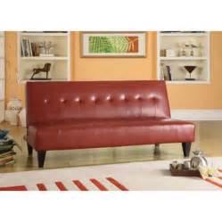 faux leather bycast adjustable futon sofa colors