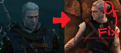 witcher 2 how to change hairstyle mod idea better hair cd projekt red forums