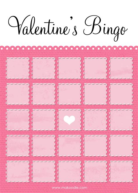 valentine s bingo free printable download makoodle