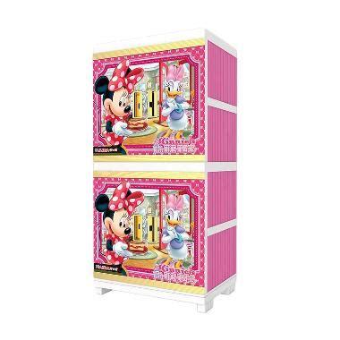 Lemari Plastik Lemari Pakaian Gantung Naiba Batik jual naiba plastik minnie 4664 xp lemari pink harga kualitas terjamin blibli