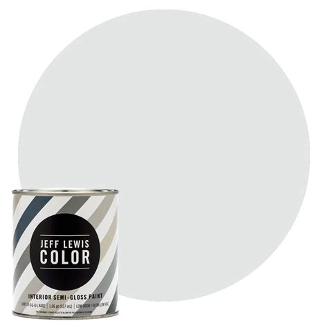 jeff lewis color 1 qt jlc310 sky semi gloss ultra low voc interior paint 504310 the home depot