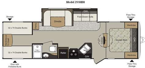 travel trailer floor plans with bunk beds 17 best images about interesting cer floor plans on
