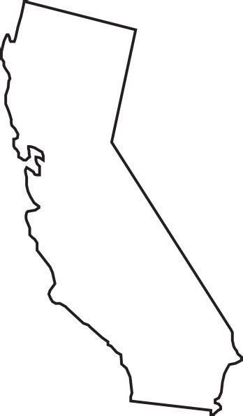 california map drawing california state outline clip clip at clker