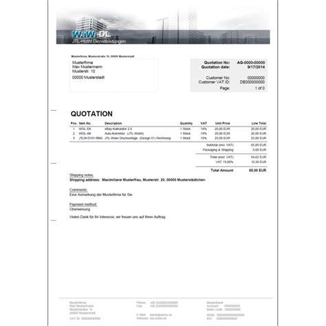 Rechnung Englisch Charge Jtl Wawi Druckvorlage Englisch Design 04 Angebot Wawi Dl 25 00