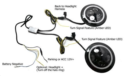 7 led halo jeep headlight wiring diagram get free image
