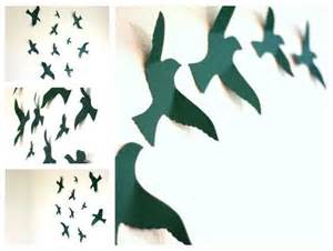paper bird wall decor bird wall decal bird wall wall for nursery wall