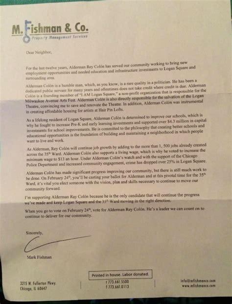 Endorsement Letter For New Tenant Landlords M Fishman Wilmot Put Ward Endorsements Tenant Doors Logan Square Chicago