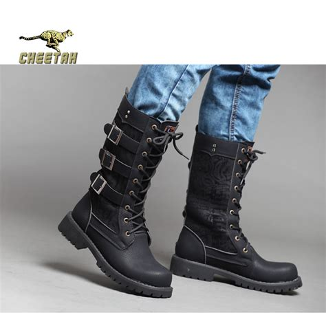 mens high leg boots winter boots tactical mens ankle boots show
