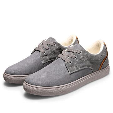 Sandal Flat Casual Pria 521 18 big size casual suede corduroy breathable lace up oxford shoes newchic