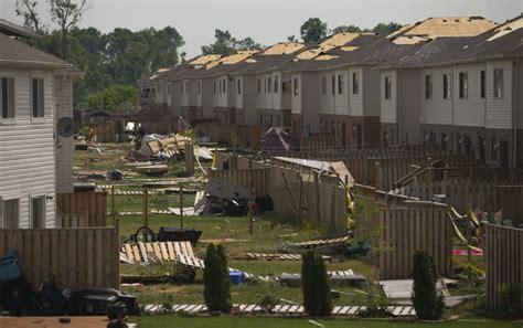 roof fly   window residents feel aftershock  angus tornado toronto star