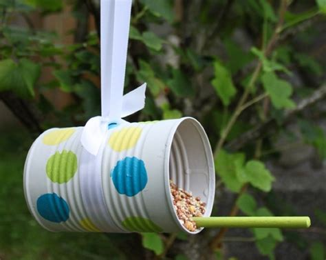 tin can projects bird feeder bird and craft